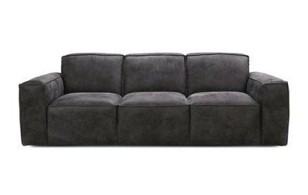 Viera in grey art leather sofa Leather Sofa Sofa Set Online Bangalore 3 Seater