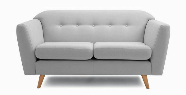 Waverly fabric sofa set Fabric Sofas Sofa Set Online Bangalore Steel grey 3 Seater