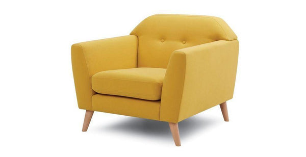 Waverly fabric sofa set Fabric Sofas Sofa Set Online Bangalore Yellow 1 Seater