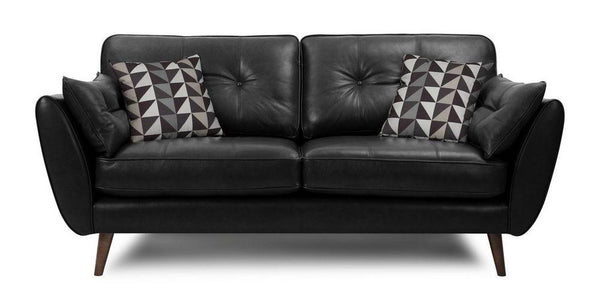 Zinc leather leather sofa set Leather Sofa Sofa Set Online Bangalore Black 3 Seater