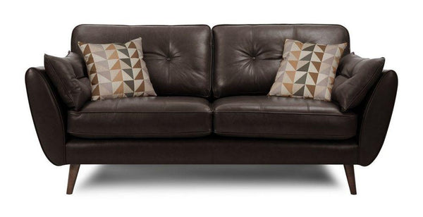 Zinc leather leather sofa set Leather Sofa Sofa Set Online Bangalore Chocolate 3 Seater