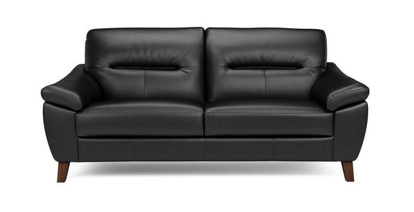 Zyan genuine leather sofa set Genuine Leather Sofa Sofa Set Online Bangalore Black 3 Seater