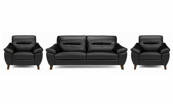 Zyan genuine leather sofa set Genuine Leather Sofa Sofa Set Online Bangalore Black 3+1+1