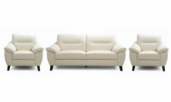 Zyan genuine leather sofa set Genuine Leather Sofa Sofa Set Online Bangalore Cream 3+1+1