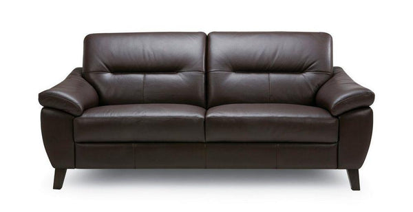 Zyan genuine leather sofa set Genuine Leather Sofa Sofa Set Online Bangalore DBrown 3 Seater