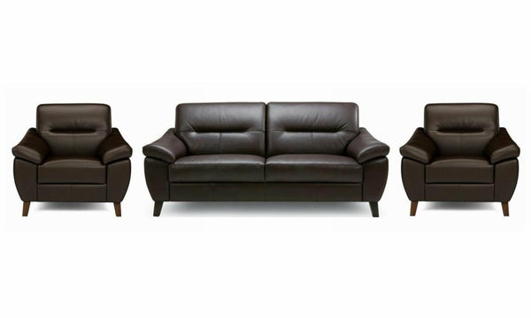 Zyan genuine leather sofa set Genuine Leather Sofa Sofa Set Online Bangalore DBrown 3+1+1