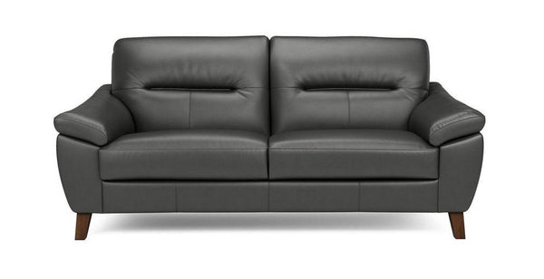 Zyan genuine leather sofa set Genuine Leather Sofa Sofa Set Online Bangalore DGrey 3 Seater