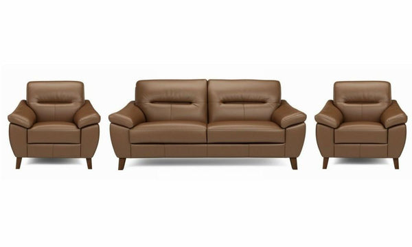 Zyan genuine leather sofa set Genuine Leather Sofa Sofa Set Online Bangalore LMocha 3+1+1