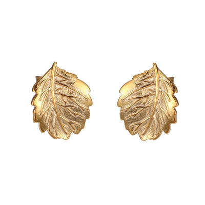 Strawberry Leaf Studs