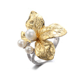 White Bloom Ring