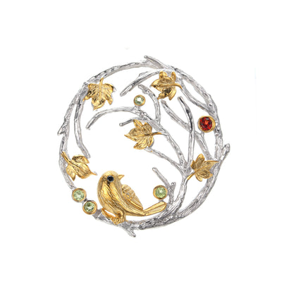 Birds on Branch Pendant