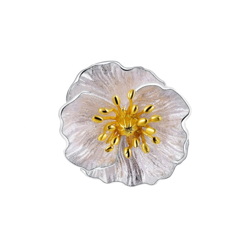 White Poppy Pendant