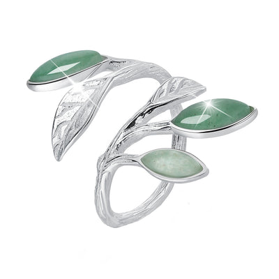 Spring In The Air Leaf Ring -  A.Brask smykker