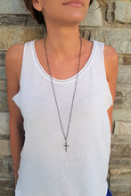 Load image into Gallery viewer, Long_Cross_pendant_necklace