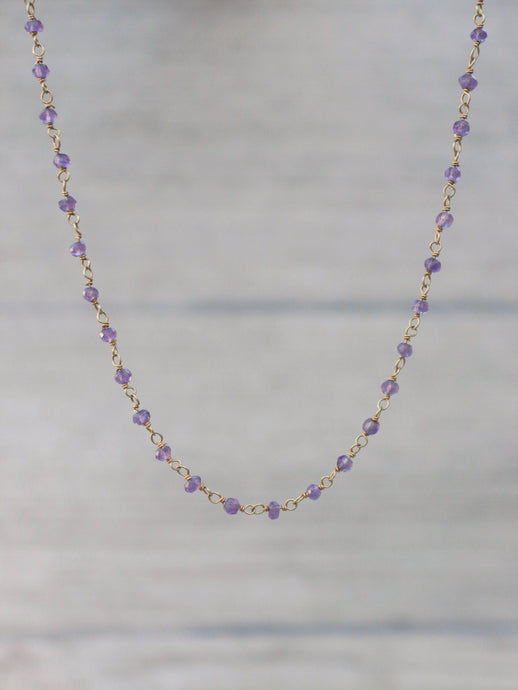 Amethyst_Rosary_Style_gold_Hand_wired_Chain_Beaded_necklace_for_women_Delicate_necklace_Layered_necklace