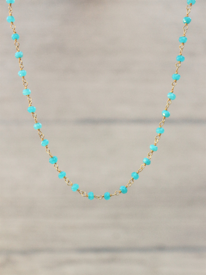 Apatite_Rosary_style_beaded_necklace_for_women_Unique_blue_neon_choker_gift_for_her