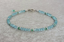 Load image into Gallery viewer, Aquamarine_beaded_bracelet_for_women_Natural_jade_gift_for_her