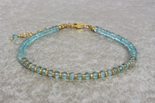 Load image into Gallery viewer, Aquamarine_beaded_bracelet_for_women_gold