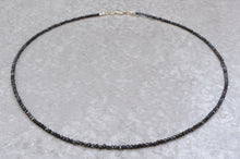 Load image into Gallery viewer, Black_spinel_beaded_necklace_for_women