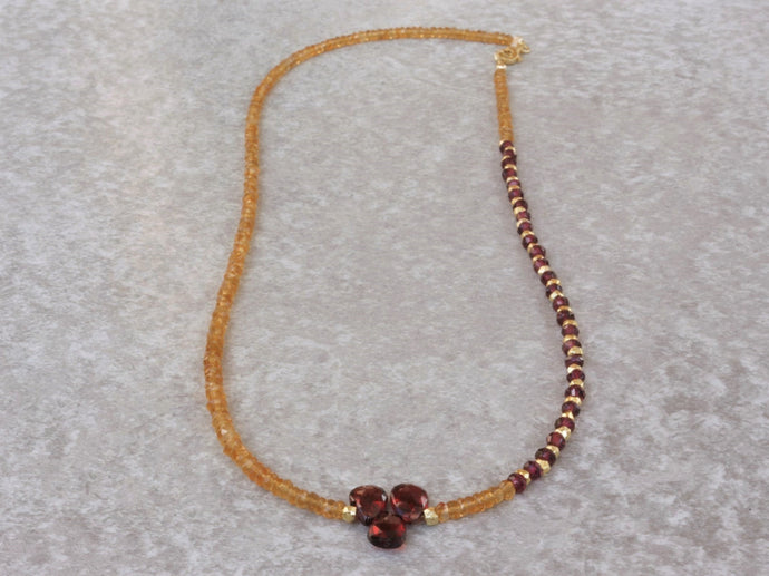 Citrine_beaded_pendant_necklace_for_women