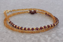 Load image into Gallery viewer, Citrine_beaded_pendant_necklace_for_women