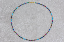 Load image into Gallery viewer, Colorful_beaded_necklace_turquoise_gift_for_women