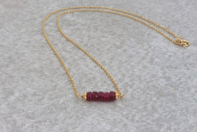 Load image into Gallery viewer, Delicate_red_ruby_tiny_pendant_necklace_gold