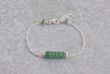 Load image into Gallery viewer, Green_emerald_delicate_bracelet_silver