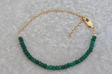 Load image into Gallery viewer, Green_onyx_beaded_gold_chain_bracelet_for_women