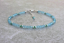 Load image into Gallery viewer, Dainty Aquamarine - Jade Jewelry Set