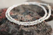 Load image into Gallery viewer, Dainty solid silver beaded necklace with karen hill tribe beads