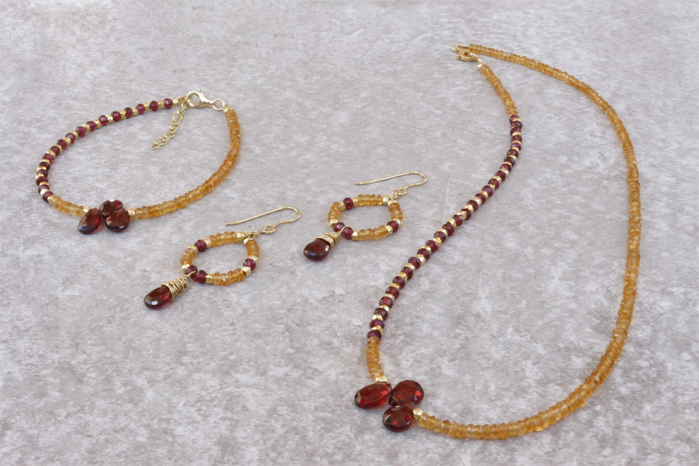 Natural_Citrine_madeira_jewelry_set_for_women_gift_for_her
