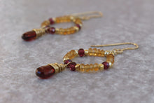 Load image into Gallery viewer, Natural Citrine madeira jewelry set for women, gift for her
