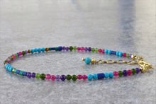 Load image into Gallery viewer, Colorful_beaded_bracelet_turquoise