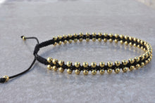 Load image into Gallery viewer, Macrame_beaded_gold_bracelet