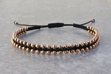 Load image into Gallery viewer, Macrame_beaded_rose_gold_bracelet