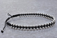 Load image into Gallery viewer, Macrame_beaded_silver_bracelet_