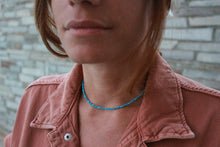 Load image into Gallery viewer, Natural_simple_turquoise_beaded_necklace_for_women_gift_for_her