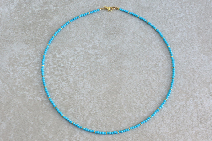 Natural_simple_turquoise_beaded_necklace_for_women_gift_for_her