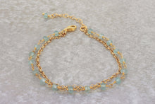 Load image into Gallery viewer, Rosary-style-bracelet-Aquamarine-beaded-bracelet-for-women