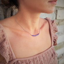 Load image into Gallery viewer, Sapphire_pendant_bar_necklace