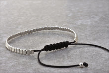 Load image into Gallery viewer, Silver_beaded_stackable_bracelet