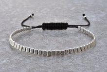 Load image into Gallery viewer, dainty_Silver_beaded_stackable_bracelet