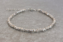 Load image into Gallery viewer, Solid_silver_beaded_bracelet_for_women