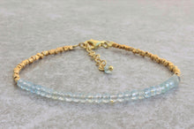 Load image into Gallery viewer, Statement_beaded_bracelet_for_women_Aquamarine_gold_gift_for_her