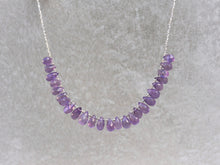 Load image into Gallery viewer, Statement_beaded_necklace_for_women_Amethyst_teardrop
