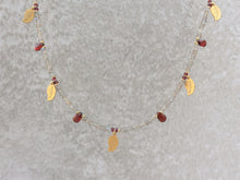 Load image into Gallery viewer, Statement_beaded_necklace_for_women_labradorite_garnet