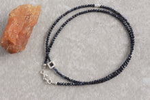 Load image into Gallery viewer, Dainty_blue_sapphire_beaded_necklace_for_women_silver