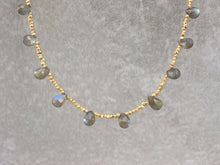 Load image into Gallery viewer, Statement_gold_labradorite_beaded_necklace_for_women