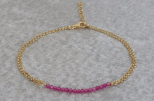 Load image into Gallery viewer, Tiny_fuchsia_beaded_ruby_bracelet_for_women